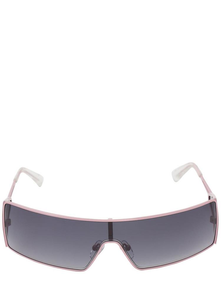 LE SPECS Adam Selman The Luxx Squared Sunglasses in black / pink
