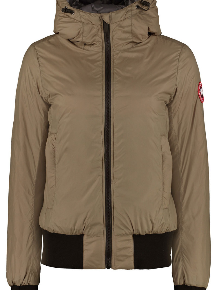 Canada Goose Dore Hooded Ultra-light Down Jacket in green