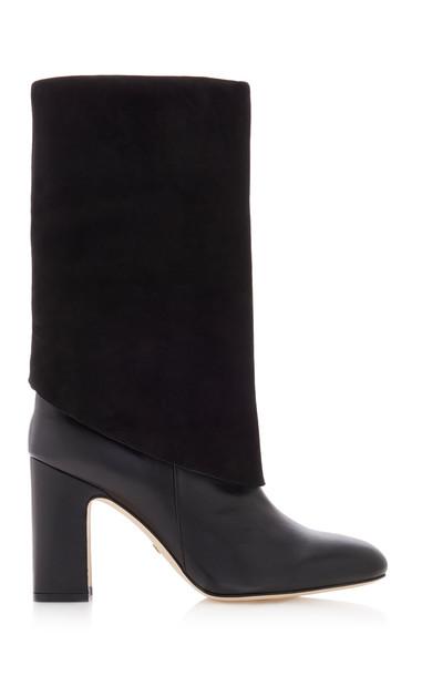 Stuart Weitzman Lucinda Convertible Mid-calf Boot Size: 5 in black