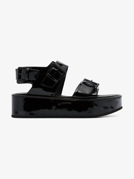 Ann Demeulemeester Platform leather sandals in black