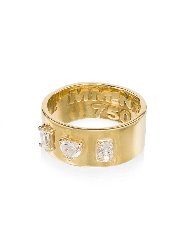 Mindi Mond 18kt yellow gold diamond cigar band ring