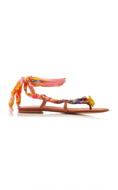 Alameda Turquesa Belle Lace Up Sandals in pink