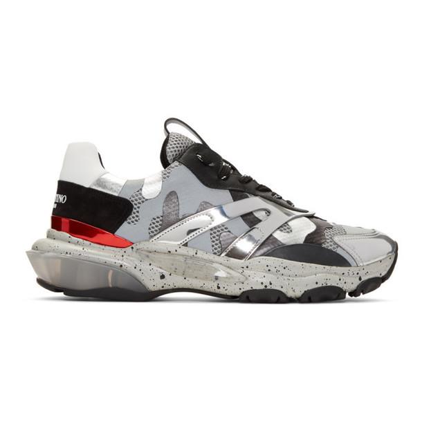 Valentino Silver Valentino Garavani Camo Bounce Sneakers