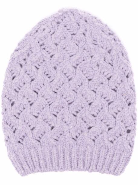 Fabiana Filippi chunky knitted beanie - Purple
