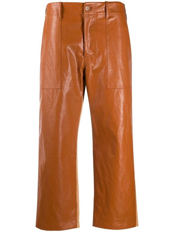 Jejia cropped-leg trousers in orange