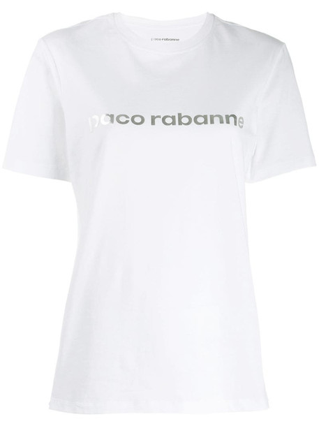 Paco Rabanne logo print T-shirt in white