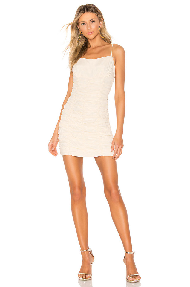 C/MEO Ended Up Here Mini Dress in cream