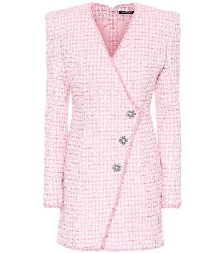 Balmain Tweed minidress in pink