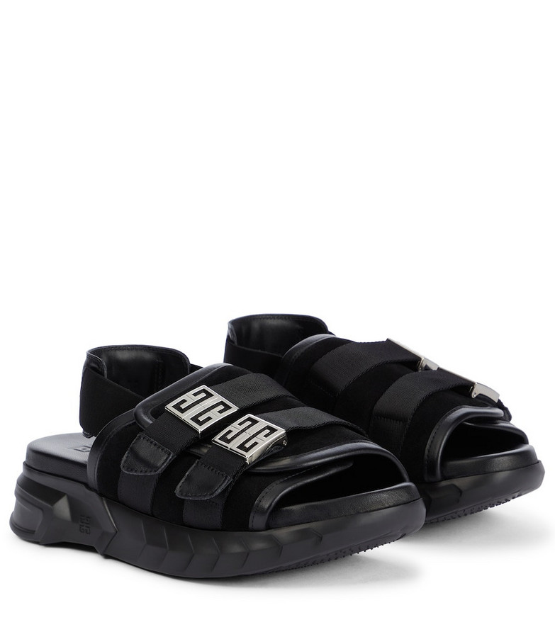 Givenchy Marshmallow slingback sandals in black