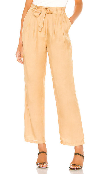 L'Academie The Danette Pant in Tan