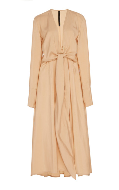 Petar Petrov Dedra Jersey Midi Dress Size: 42 in neutral
