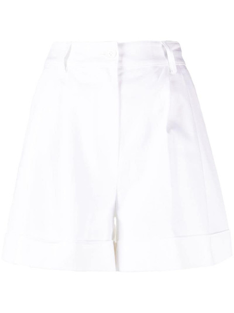 P.A.R.O.S.H. pleated detail cotton shorts in white