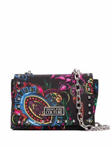 Versace Jeans Couture baroque-print chain-strap crossbody bag - Black