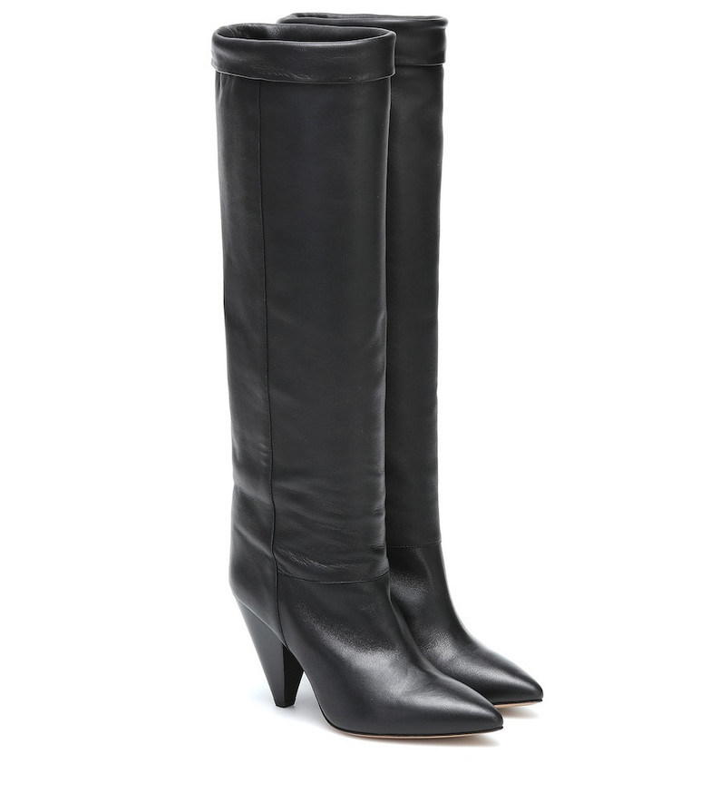 Isabel Marant Loens leather knee-high boots in black