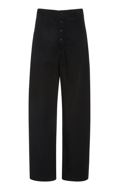 NILI LOTAN Toledo Cotton Pants in black