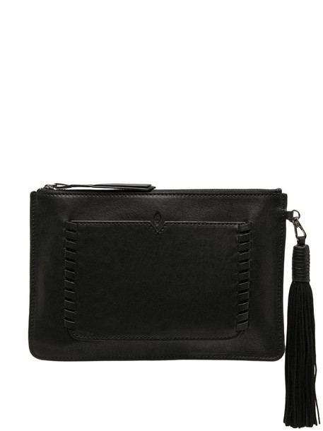 Ba&Sh Teddy tassel clutch in black