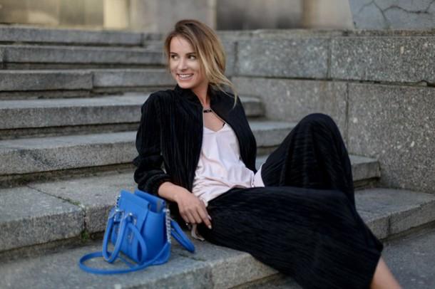 juliett kuczynska blogger bag jewels pants blouse shoes underwear