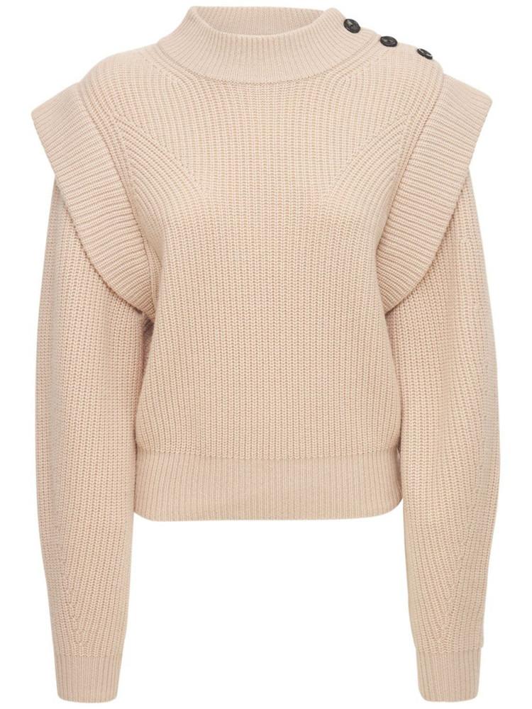 ISABEL MARANT Peggy Wool Blend Knit Sweater in beige