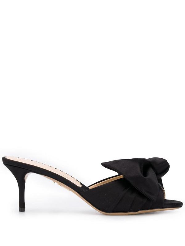 Charlotte Olympia Drew satin sandals in black