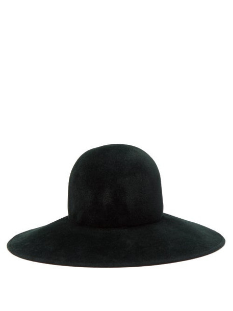 Lola Hats - Biba Wide Brimmed Felt Hat - Womens - Dark Green