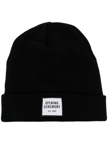 Opening Ceremony logo patch knitted beanie in black
