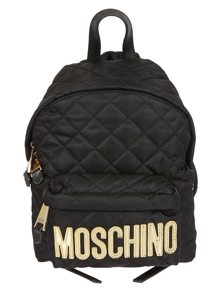 Moschino Quilted Backpack in black