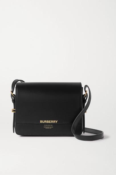 Burberry - Small Leather Shoulder Bag - Black