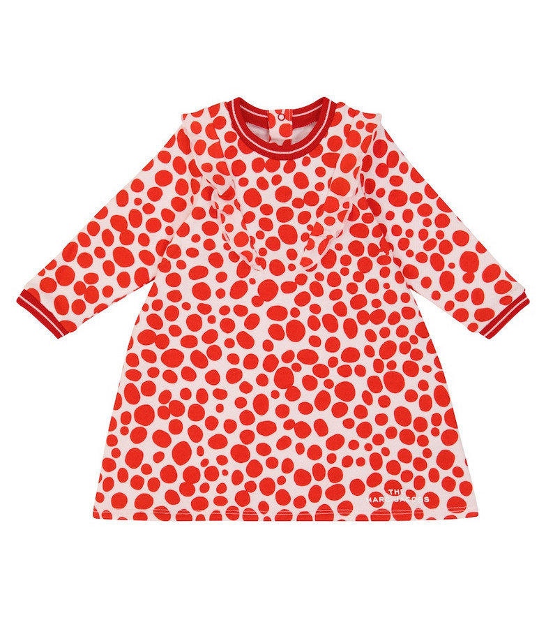 The Marc Jacobs Kids Baby printed cotton-blend dress in red
