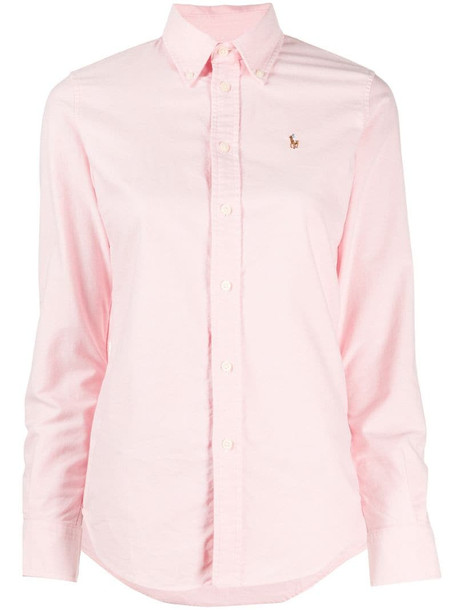Polo Ralph Lauren embroidered-logo button-down shirt in pink