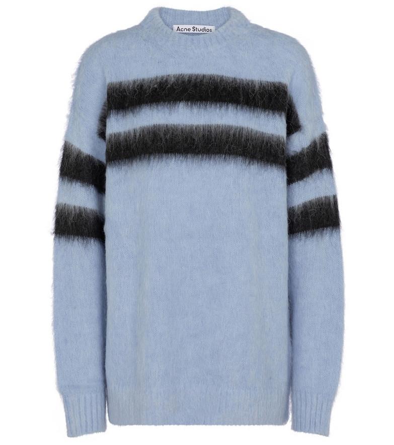 Acne Studios Alpaca-blend oversized sweater in blue