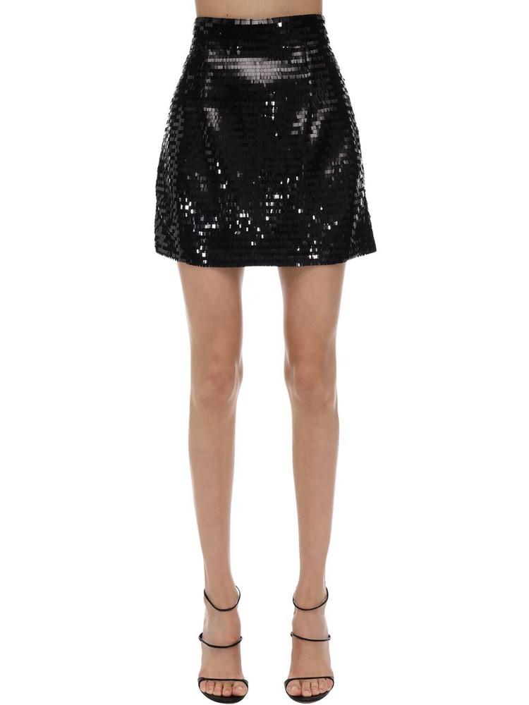 AMEN Sequined Mini Skirt in black