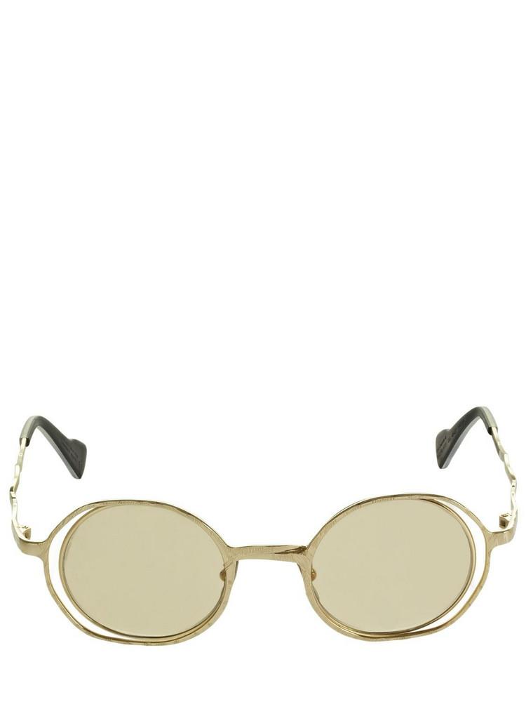 KUBORAUM BERLIN H11 Round Metal Sunglasses in brown / gold