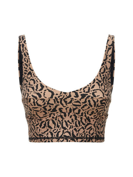 THE UPSIDE Candice Leopard Print Bra Top in black / brown