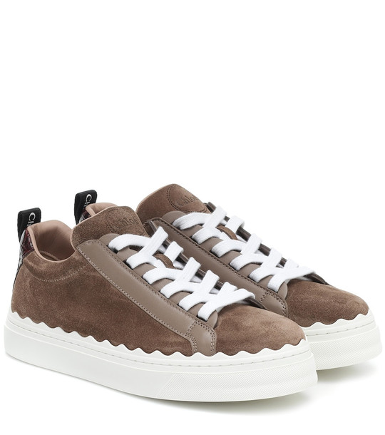 Chloé Lauren suede sneakers in brown