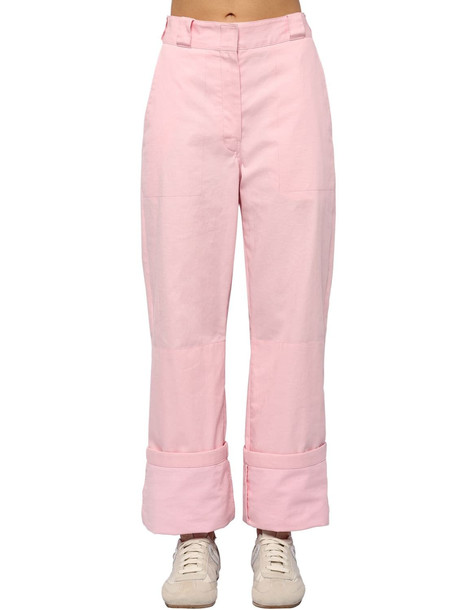 LOEWE Cotton Canvas Cargo Pants in pink