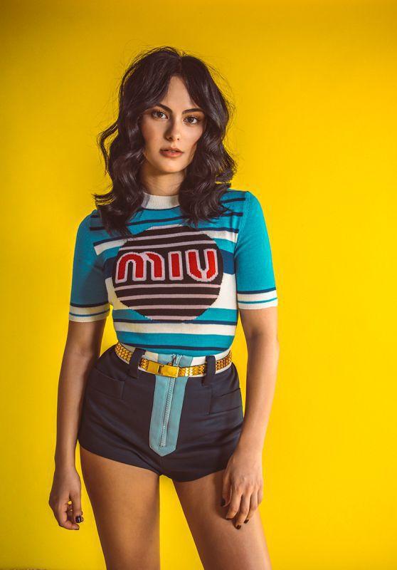 shorts miu miu celebrity editorial camila mendes