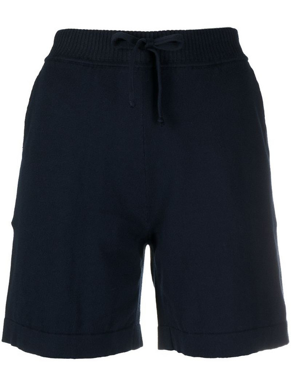 P.A.R.O.S.H. ribbed waistband cotton shorts in blue
