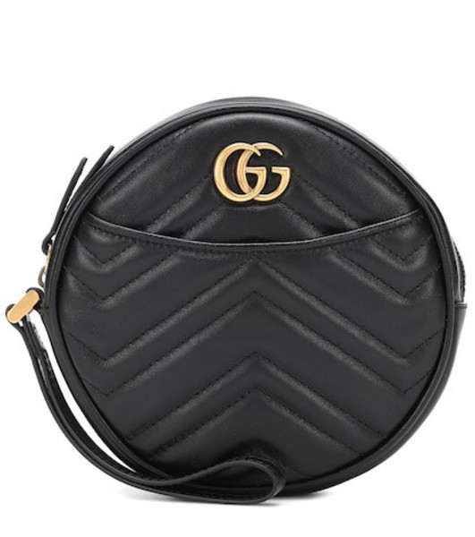 Gucci GG Marmont Small leather shoulder bag in black