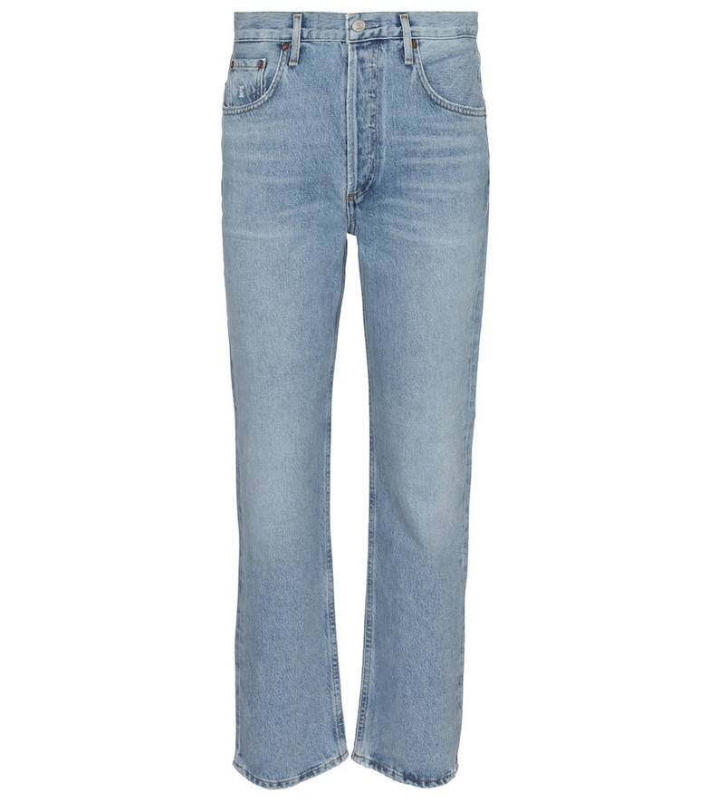 Agolde Ripley mid-rise straight jeans in blue