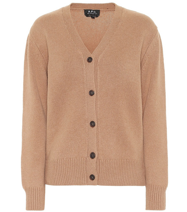 A.P.C. Ama wool cardigan in brown