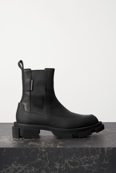 both - Gao Rubber-trimmed Leather Platform Chelsea Boots - Black