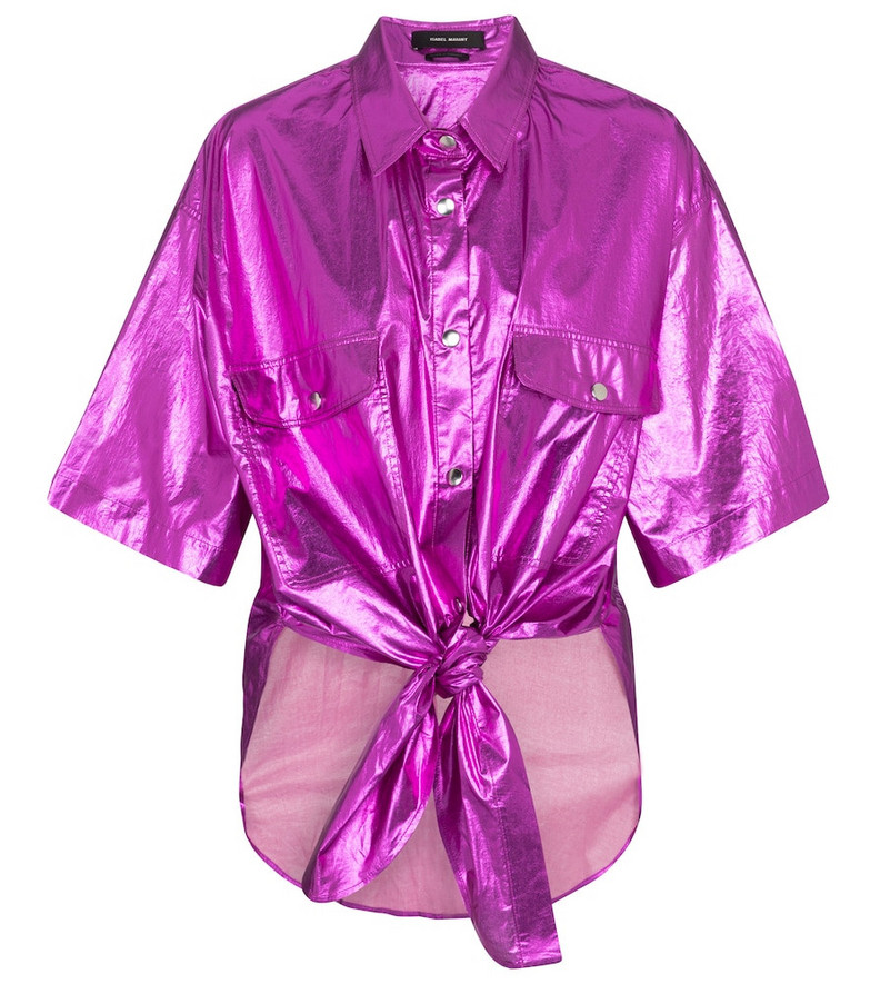 Isabel Marant Giliggy cotton shirt in pink
