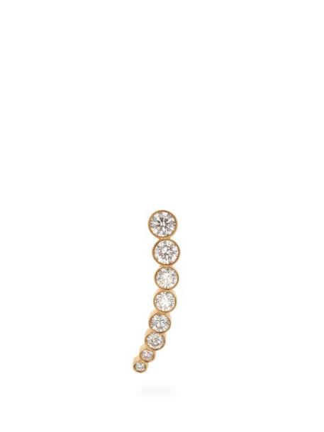 Sophie Bille Brahe - Croissant De Lune Diamond & 18kt Gold Earring - Womens - Diamond