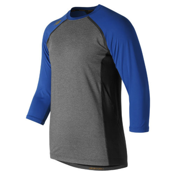 New Balance 650 Men's 3/4 Sleeve 4040 Compression Top - Blue (TMMT650TRY)