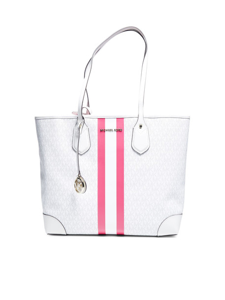 MICHAEL Michael Kors Tote in pink / white