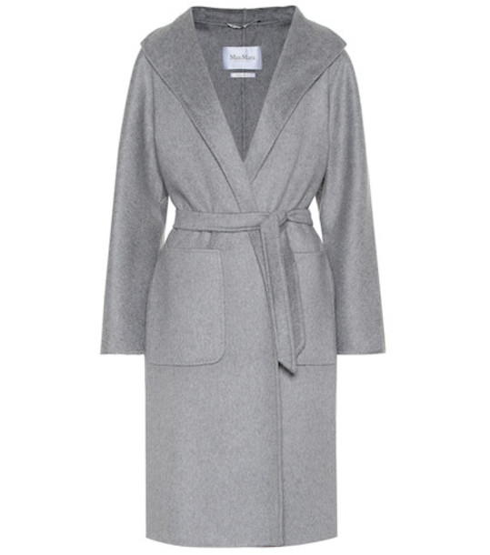 Max Mara Lilia double-face cashmere coat in grey