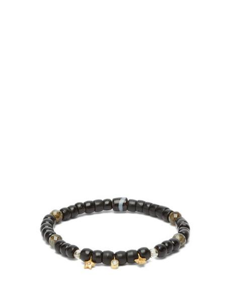 Musa By Bobbie - Diamond, Labradorite & 18kt Gold Beaded Bracelet - Womens - Black