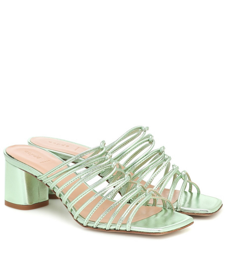 Aeydé Pearl metallic-leather sandals