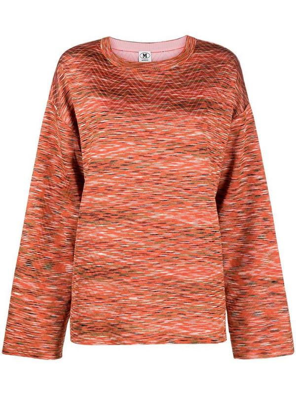 M Missoni abstract intarsia rib-trimmed jumper in orange