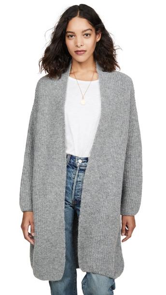 Eberjey Hester Oversized Cardigan in grey